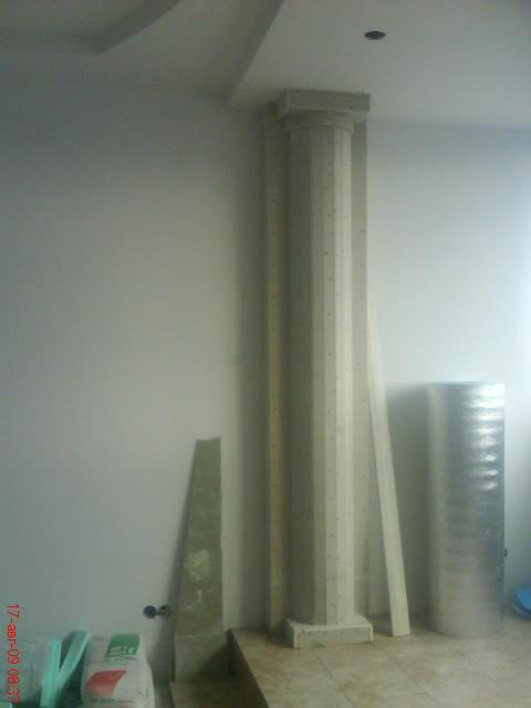 облицовка круглых колонн гипсокартоном цена за работу